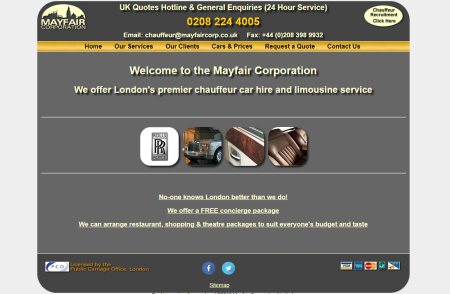 The Mayfair Corporation - Chauffeur & concierge services in London